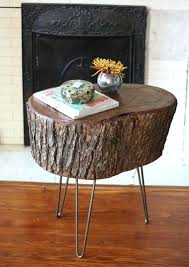 tree trunk table trunks and hairpin legs glass base uk