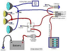 wiring diagram accessory ignition and start jeep 4x driving lights wired to high beams