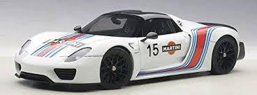 918 spyder white. porsche 918 spyder weissach package white martini livery 15 118 autoart 77927 ebay
