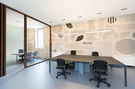 square designed offices. Along With Designing The Interiors, Studio Tomorrow Designed A Custom, 100 Square Meter Carpet For Wall That Not Only Helped Acoustics, Offices