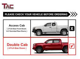 Amazon.com: TAC Side Steps Fit 2005-2019 Toyota Tacoma Double Cab ...