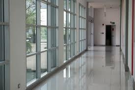 office corridor door glass. Window Corridor In Hallway With Natural Light Modern Office Building Interior Premium Photo Door Glass