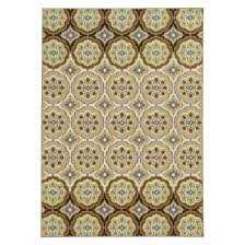 Circle Patterned Area Rug