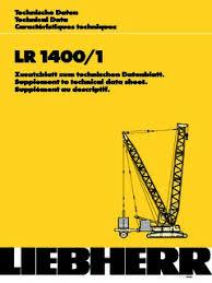Liebherr Lr 1400 Load Chart Liebherr Lr 1400 Series Specifications Cranemarket