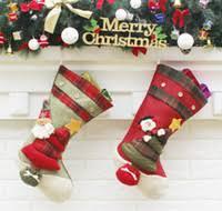 Große Vintage Weihnachtsstrümpfe Füllstoff Künstliche Christbaumschmuck Weihnachtsschmuck Für Home Bar Shop Dekoration