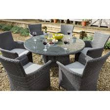 hartman casa outdoor dining set 6 seater slate stone