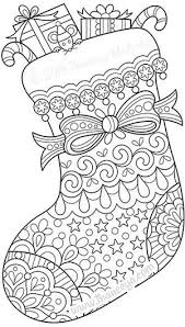 Color Christmas Stocking Coloring Page By Thaneeya Coloring Pages