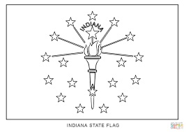 Small Picture Flag of Indiana coloring page Free Printable Coloring Pages