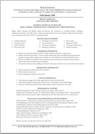 Dentist Resume Sample Dental Objective Surprising Templates India