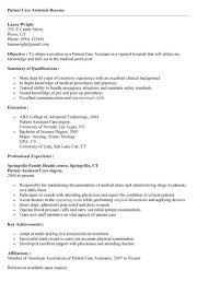 Patient Care Technician Sample Resume