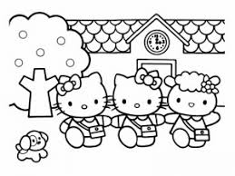 She will definitely enjoy coloring this picture with kitty saying hello! Hello Kitty Free Printable Coloring Pages For Kids Page 2