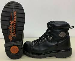 harley davidson womens size 5 dipstick black leather biker boots style 81610