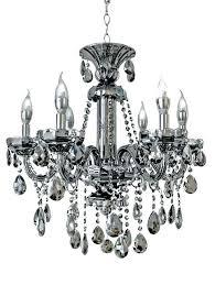 smoke crystal chandelier 6 light smoked mirrored silver and chandeliers smoke crystal chandelier