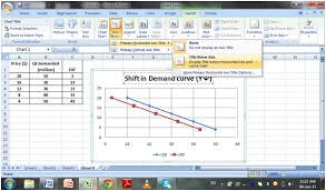 Supply And Demand Chart In Excel Tutorial How To Draw Demand Curve And Its Shift In Excel