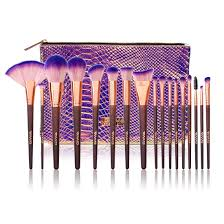 3 17pcs makeup brush set with bag