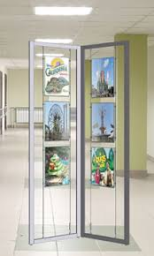 Interior Display Stands Nova Display Inc FlexiFrame Display Stands Aluminum Modular 100