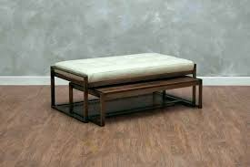 ottomans leather and metal ottoman international nesting tray square leather and metal ottoman