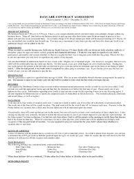 Daycare Contract Template Daycare Contract Template 1 Free Templates In Pdf Word