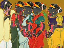 a painting by thota vaiam