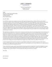 sample paralegal cover letter cover letter paralegal