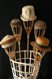 Fascinator Display Stands Delectable Rattan Hat Display Head 32 Millinery Shop 32s Etsy