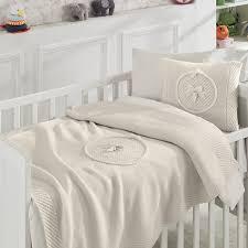teddy bear crib sheet nipperland teddy bear wool blended 6 piece crib bedding set