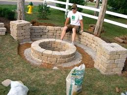 how to build a fire pit on an existing paver patio amazing