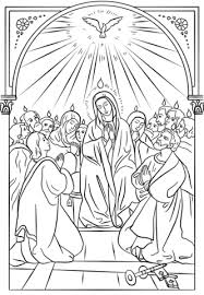 Small Picture Pentecost Icon coloring page Free Printable Coloring Pages