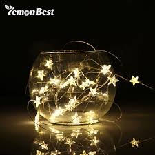 Copper Star Fairy Lights Us 1 43 10 Off 2 3m String Led Lights Decoration Fairy Light Battery Operated Waterproof Star Copper Wire Lamp Indoor Outdoor Christmas Wedding In