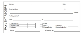 Paid Receipt Form Receipt Template