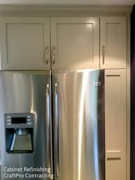 Refinishing and painted kitchen cabinets by CraftPro Contracting in  Morristown NJ 07960