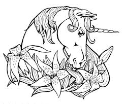 Small Picture Print Download Unicorn Coloring Pages for Children