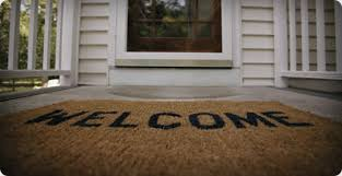 open door welcome mat. Welcome Mat Open Door