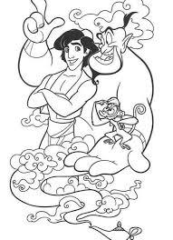 Small Picture Aladdin coloring pages aladdin abu genie ColoringStar