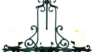 wrought iron candle chandelier non electric chandeliers deliers delier