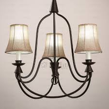 rustic iron chandelier country 3 light fabric shade wrought iron rustic chandeliers