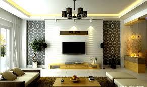 living room with custom tv unit design and false ceiling work indianhomemakeovercom