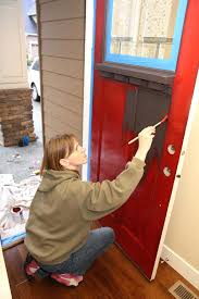 painting exterior door painting exterior door in winter