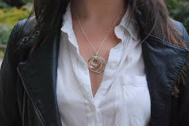 1837 interlocking circles pendant design ideas tiffany co sterling silver and 18k rose gold 1837 interlocking