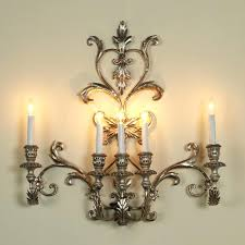 vintage candle wall sconces two mirrored tin one with round back pictured within sconce antique english