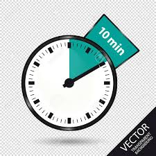 Timer 10 Minutes Vector Illustration Isolated On Transparent