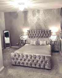 silver glitter wallpaper in bedroom