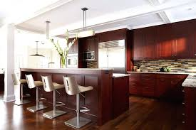 modern cherry kitchen cabinets cherry kitchen cabinets kitchen transitional with beams beige bar stools image by