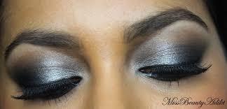 silver black eid eye makeup tutorial