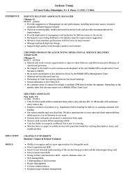 Delivery Associate Resume Samples Velvet Jobs