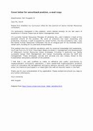 Cover Letter When Sending Resume By Email Sending Resume by Email Cover Letter Samples Inspirational Sample 88