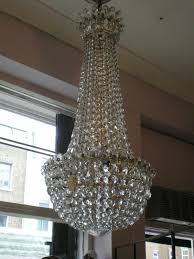 edwardian crystal chandelier possibly waterford