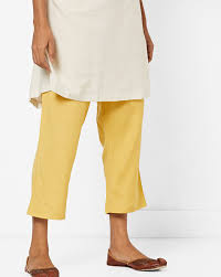 project eve iw cal yellow pants ankle length drawstring pants