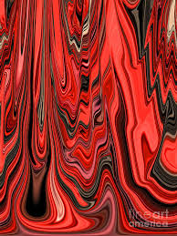 Red Black And White Abstract Design Pattern Curve And Zig Zag