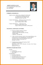 Sample Resume For Filipino Nurses Applying Abroad Resume Ixiplay